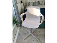 White office swivel desk chair