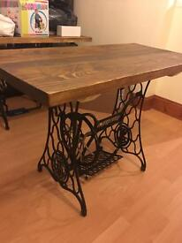 Singer dining table. Shabby chic
