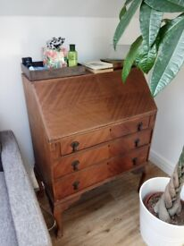 Antique writing bureau/desk in very good condition with 3 drawers
