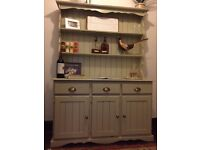 Large Kitchen dresser. In beautiful condition, great storage. Country cottage-style. 1.36M W x 2M H