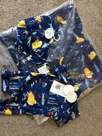 mamas and papas 3-6 swim suit/ sun cap/ hooded towel