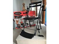 Chair Gym - Multi gym fitness chair full body slimming toning workout (Black)