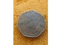50p coin table tennis London Olympic Games 2012.