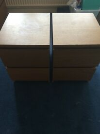 IKEA Malm 2 drawer chests x 2 RRP £39 each