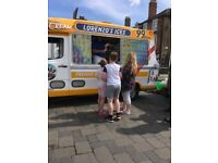 Ice cream van with slush for hire event work