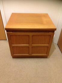 cabinet retro vintage Nathan teak wood chest storage Parker Knoll