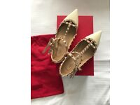 Valentino Rockstud women's shoes size 39.5 fits 39