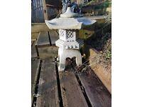 pond marble lantern