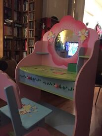 Liberty house fairy vanity table and chair