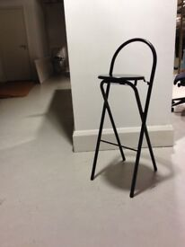 Black Bar stool. Boxed. £15. Pick up only, Baker Street