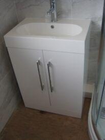 Novum Tempt 600 Basin Unit - Gloss White