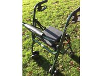 Uniscan Rollator with padded seat and backrest
