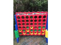 Giant connect four garden game Used for a wedding reception in good condition