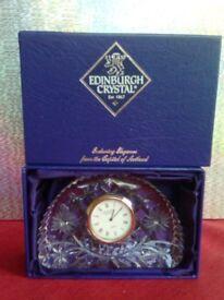 Edinburgh Crystal Glass Clock