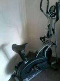 Elliptical cross trainer bike