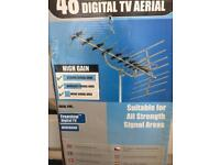 Digital Freeview 48 Element TV Aerial loft or roof (new)