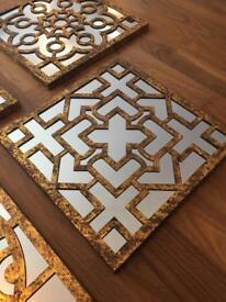 Set of 4 ornate mirrors