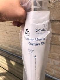 Croydex Premier Shower Curtain Rod 200cm (6'6'') x 3
