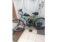 Mountain bike with petrol engine