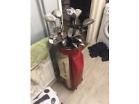 Golf Irons in Dunlop vintage bag