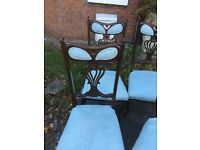 4 Antique mahogany dining chairs