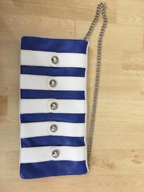 Lovely blue and white handbag