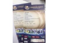 Last minute gold and silver tickets 500£ each India Pakistan final champions trophy
