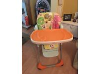 3 point harness high chair