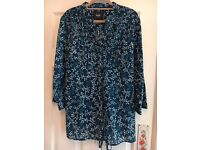 TEAL PATTERNED OVERSHIRT (MAINE) SIZE 18