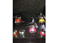 Shimano super bait runners XTEA.2 8000,1 6000,3 spare spools inc line hardly used Call for info £100