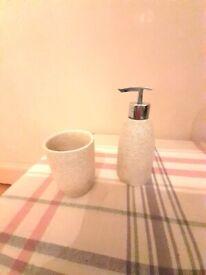 Soap dispenser, tooth mug