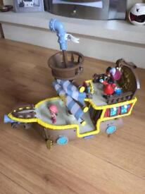 Jake and the Netherland pirate ship and characters