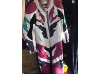 Fieldsheer all in one motor bike leathers size large