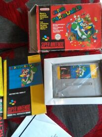 4x SNES games with original boxes & manuals