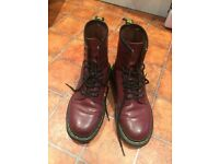 Dr Martens Cherry Red UK Size 5 / EU 38