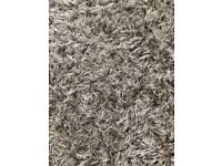 Cream shaggy rug