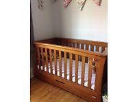 Oak Mama & Papa Cot Bed