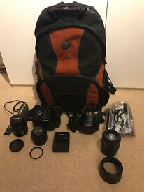 Canon EOS 1100D 12.2MP Digital SLR Camera - 18-55mm, 50mm And Tamron 55-200mm