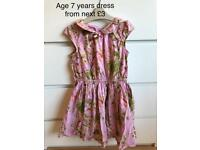 Girls age 6 years dress from next