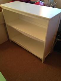 White Wooden Shelving Unit £40