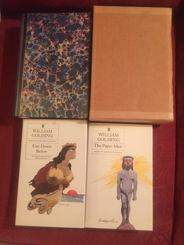 Three rare first edition, signed William Golding books. All in fantastic condition