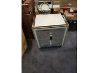 2 Drawer crushed dianond cabinet