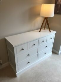 White sideboard/ chest of draws from Next