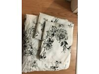 Black and white double bedding