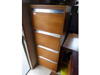 2 x Teak Filing Cabinets - Industrial Cabinets - HL and President £15 each