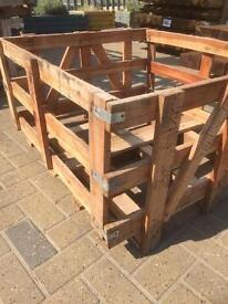 Storage oak crates
