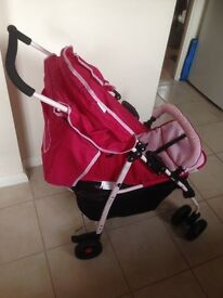 Pushchair, hardly used with covers