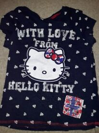 Navy hello kitty tshirt