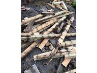 Free old decking frame wood