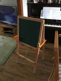 Solid wood Easel with ELC magnetic letter and number box